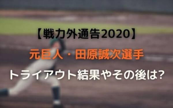 巨人田原誠次トライアウト結果やその後は引退!【戦力外通告2020】