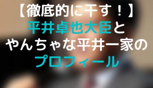 【徹底的に干す】平井卓也大臣 本人もやんちゃだが、子供もやんちゃ?